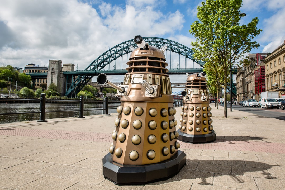 Newcastle Commercial Photographers showing Dalek invasion on the Quayside