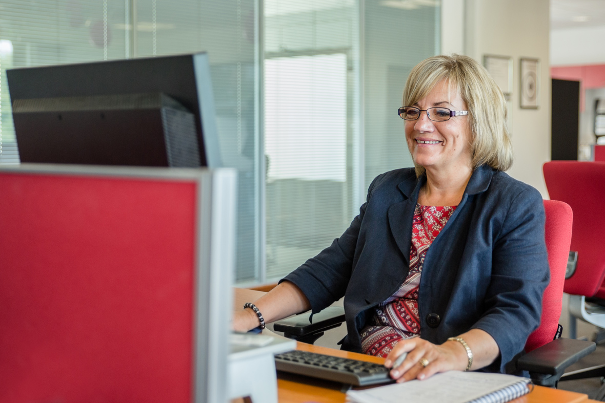 North East Commercial Photography of lady in office environment
